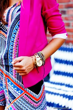 Brenna Mari of Chic Street Style rocks our printed romper!! http://chicstreetstyle.me/2014/08/04/endless-summer/