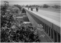 scott pommier bikes motorcycle bridge photo