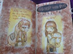 Wreck this Journal  Rub here with dirt Gaara meets Captain Jack Sarrow