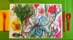 Spring Celebrations are here  Bright Floral Paper by GypsyGardener, $10.00