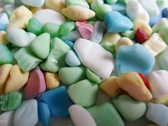 Multicolored chips and teeny tiny milk sea glass