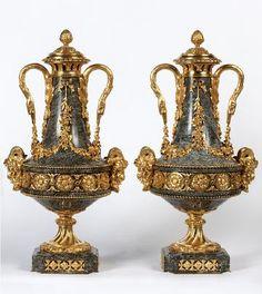 Louis XVI ormolu cassolettes