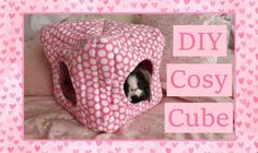 DIY Guinea Pig Cosy Cube Tutorial - This would be great for chinchillas and other small pets too. Diy Guinea Pig Toys, Guinea Pig House, Pet Guinea Pigs, Guinea Pig Care, Pet Pigs, Diy Chinchilla Toys, Guinea Pig Clothes, Cage Rat, Guinie Pig