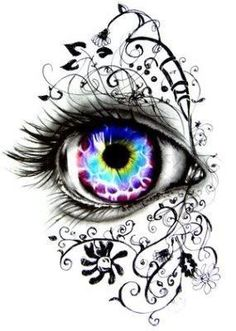Fantasy eye brilliant idea reminds me of my line drawings i should do that again but this is truly exquisite! blue eye tattoo by niki norberg Pencil Art, Pencil Drawings, Line Drawing, Painting & Drawing, Drawing Ideas, Body Painting, Watercolor Paintings, Realistic Eye Drawing, Wow Art