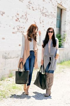 The Miller Affect and Gal About Town wearing their favorite items from the #NSALE