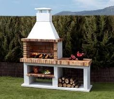 Image result for outdoor fireplace and barbecue