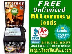 <b>Attorney Lead Generation, http://LeadBoxPlus.com , info@leadBoxPlus.com  , (818) 742-0057