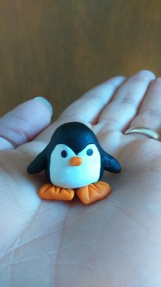 Penguin, polymer clay