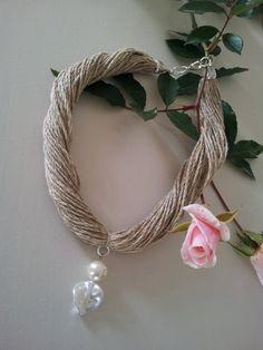 Natural cotton necklace