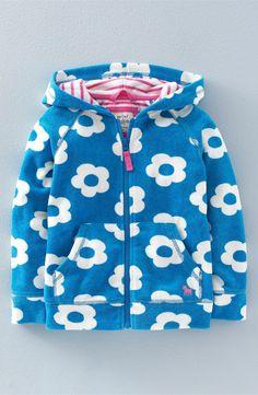Mini Boden 'Towelling' Full Zip Hoodie (Toddler Girls, Little Girls & Big Girls)