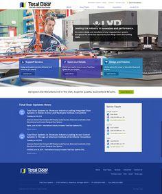 Total Door company's redesigned and responsive website