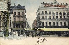 ancienne carte postale de BruxellesRue Neuve