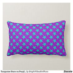 Shop Turquoise Stars on Purple Pattern Lumbar Pillow created by BrightVibesArtPhoto. Lumbar Pillow, Throw Pillows, Purple Pattern, Colorful Pillows, Star Sky, Purple Backgrounds, Star Patterns, Star Shape, Custom Pillows