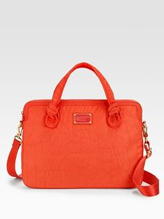 Orange marc jacobs laptop bag