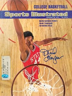 David Thompson Autographed Magazine