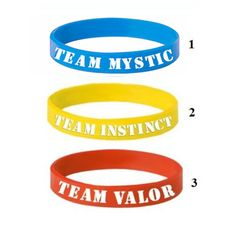 New Pokemon GO Bracelet Team Valor Instinct Mystic Logo Red Blue Yellow Silicone Bracelets Sports Women and Men fans