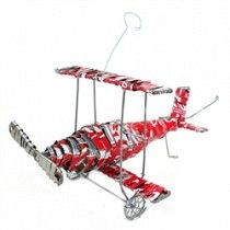 Recycled Tin Strip Red Bi-Plane Handmade and Fair Trade Aluminum Can Crafts, Aluminum Cans, Recycled Gifts, Recycled Materials, Recycled Art, Repurposed, Soda Can Crafts, South African Art, Craft Markets