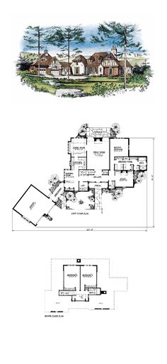 Luxury House Plan 86016 | Total Living Area: 2841 SQ FT, 3 Bedrooms And