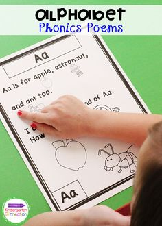 Practicing fluency is easy with these Alphabet Phonics Poems. Your Pre-K and Kindergarten students will love the predictable text and fun pictures! #kindergarten #teachingresources #teachers Alphabet Activities Kindergarten, Alphabet Phonics, Teaching The Alphabet, Sight Word Activities, Letter Activities, Writing Activities, Kindergarten Class, Preschool Crafts, Cvc Word Families
