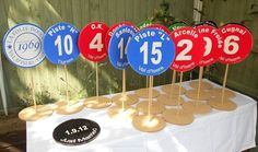 Table piste markers...