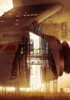 "alienspaceshipcentral: "" botanycameos: "" USS Enterprise - Star Trek 2009 Promo image Right-click for large size. "" From one science fiction lover to another…. """