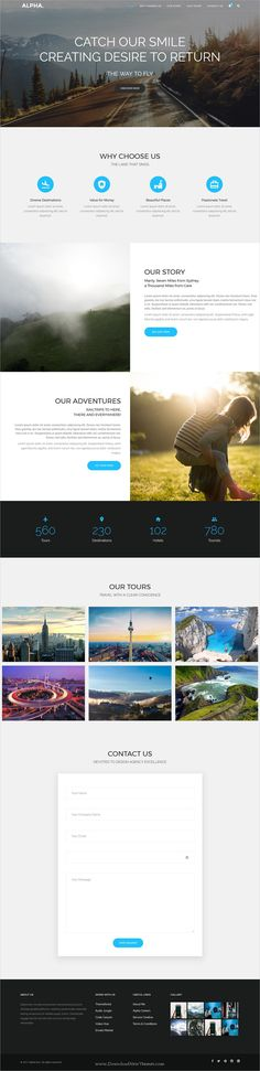 Alpha dot is awesome multipurpose responsive #WordPress theme for creative #travel agency website with 18+ niche homepage layouts, 75+ pages & 20+ widgets download now..