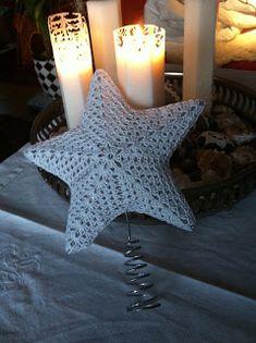 Star for the Christmas Tree Christmas Tree Star, Christmas Mix, Crochet Christmas Ornaments, Christmas Crochet Patterns, Holiday Crochet, Crochet Snowflakes, Christmas Tree Toppers, Christmas Knitting, Holiday Ornaments