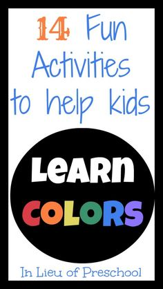 Color Activities for Kids + come link up YOUR posts for kids 5 and under for a chance to be featured next week!