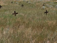 Boothill Cemetery in Billings, Montana. It served as the cemetery for the town (which was then called Coulson) from 1877 to 1885. It's so named because many of the people who are buried there died with their boots on.