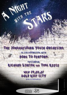 SAMA Nominees to shine in A NIGHT WITH THE STARS - also starring Johannesburg Youth Orchestra and Born To Perform