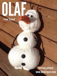 Knitting pattern for Olaf.