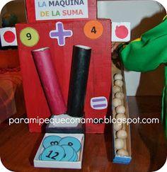 Para mi peque con amor: La máquina de la suma Sumo, Polar Animals, 4 Year Olds, First Grade, Math Activities, Montessori, Diy Crafts, Games, School Ideas