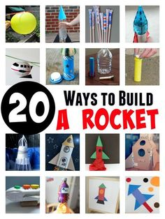 Here are some of the best ways to build a rocket. Try out these great rocket experiments and rocket crafts for kids.