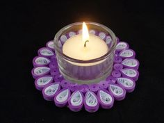 Quilling candle / tea light holder