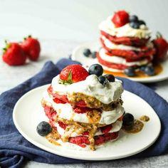 A Whole Lotta Recipes Archives - A Whole Lotta Oven Egg Free Pancakes, Vegan Pancakes, Blueberry Pancakes, Waffle Recipes, Oven Recipes, Dairy Free Whipped Cream, Pancake Stack, Food Goals, Vegan Baking