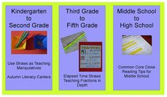 Free teaching ideas.  Use straws to teach counting on, close reading teaching tips and more!  Click the image.