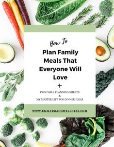 Ever feel frustrated with meal planning? And no one appreciates your effort? Check out these 5 tips to simplify meal planning, and grab the printable planning sheets and my master list of dinner ideas. #mealplanning #mealprep #mealplan Real Food Recipes, New Recipes, No Bake Pumpkin Pie, Dinner This Week, Feeling Frustrated, Some Recipe, Nutrition Education, Health Coach, Family Meals
