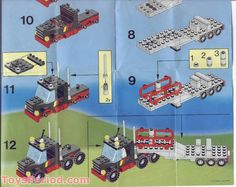classic lego instructions | Stunt 'Copter 'n' Truck Free Instruction Page 6