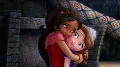 Disney Junior, Disney Jr, Sofia The First, Hug, Snow White, Aurora Sleeping Beauty, Disney Princess, Disney Characters, Princesses