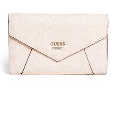 GUESS Gia Python-Embossed Wallet ($48) ❤ liked on Polyvore featuring bags, wallets, clutches, accessories, purses, bags and purses, pocket bag, guess wallets, snake print bag and pocket wallet