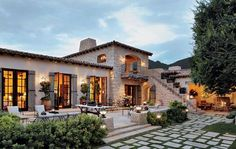 This old world Mediterranean-style home features a number of outdoor spaces for relaxing and entertaining. Architecture by Oz Architects, Inc. and construction by Desert Star Construction. Mediterranean Style Homes, Spanish Style Homes, Spanish House, Mediterranean House Exterior, Mediterranean Architecture, Spanish Colonial, Hacienda Style Homes, Mission Style Homes, Tuscan Style Homes