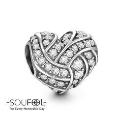 Soufeel Interlaced Heart Charm 925 Sterling Silver, for every memorable day. It's compatible for all basic bracelets.