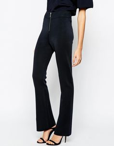 Ganni Knitted Flares with Zip Front