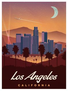 Vintage Los Angeles Poster by IdeaStorm Media. Available for purchase here http://ideastorm.bigcartel.com/product/vintage-los-angeles-poster