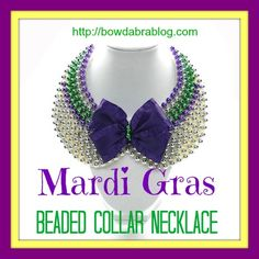 This DIY necklace idea gives you the possibility to personalize your jewelry pieces with whatever you like, making a special necklace that will no one else have. Mardi Gras Beads, Mardi Gras Party, Love Necklace, Collar Necklace, Mardi Gras Costumes, Beaded Collar, Wedding Rehearsal, Bead Crafts, Diy Crafts