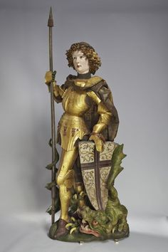 Niclaus Gerhaert von Leyden (1430–1473)  Saint George, Strasbourg, 1462  Walnut, h. ca. 150 cm  Protestant Parish Church of St George, Nördlingen  Photo: Rühl and Bormann  © Liebieghaus Skulpturensammlung, Frankfurt am Main