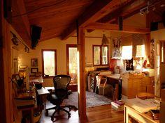 Wish I had my own creative workspace.   Studio of Marian Bantjes.