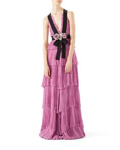 Silk+Chiffon+Gown+by+Gucci+at+Bergdorf+Goodman.