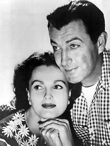 Ursula Thiess and real life husband, Robert Taylor in the movie, The Detectives, 1960.JPG