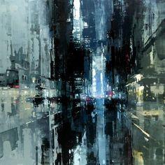 city in the night painted - Pesquisa Google